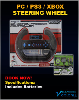 Generic Steering Wheel for rent PC PS3 Xbox