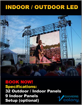 Indoor and outdoor LED Screens for rent