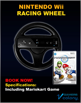Nintendo Wii Racing wheel for rent