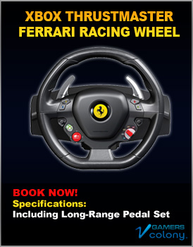 Xbox Ferrari Racing Wheel for rent